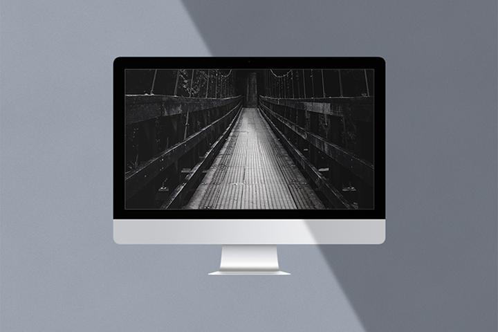 Free Minimalist iMac Mockup
