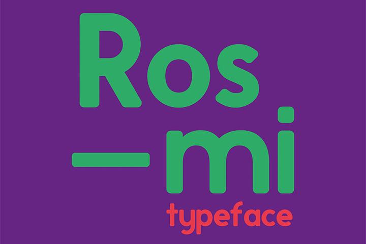 Free Rosmi Sans Typeface Font