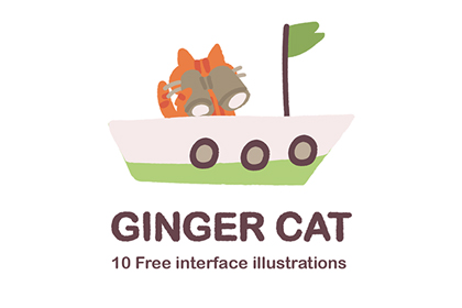 Ginger Cat UX Illustration Set