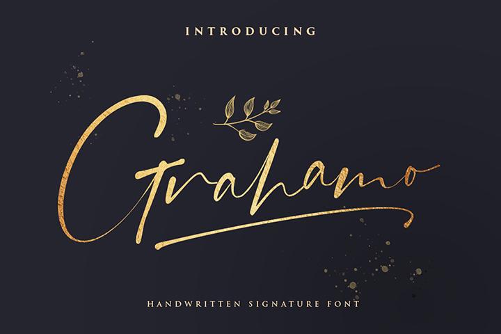 Grahamo - Luxury Script Font