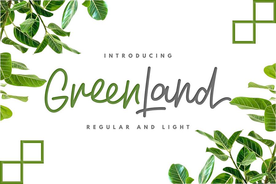 Greenland Handlettering Script