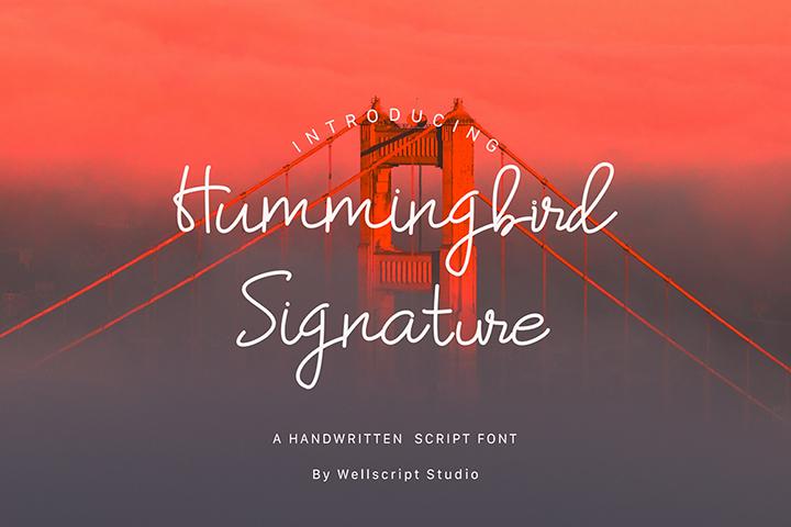Humming bird Script Font