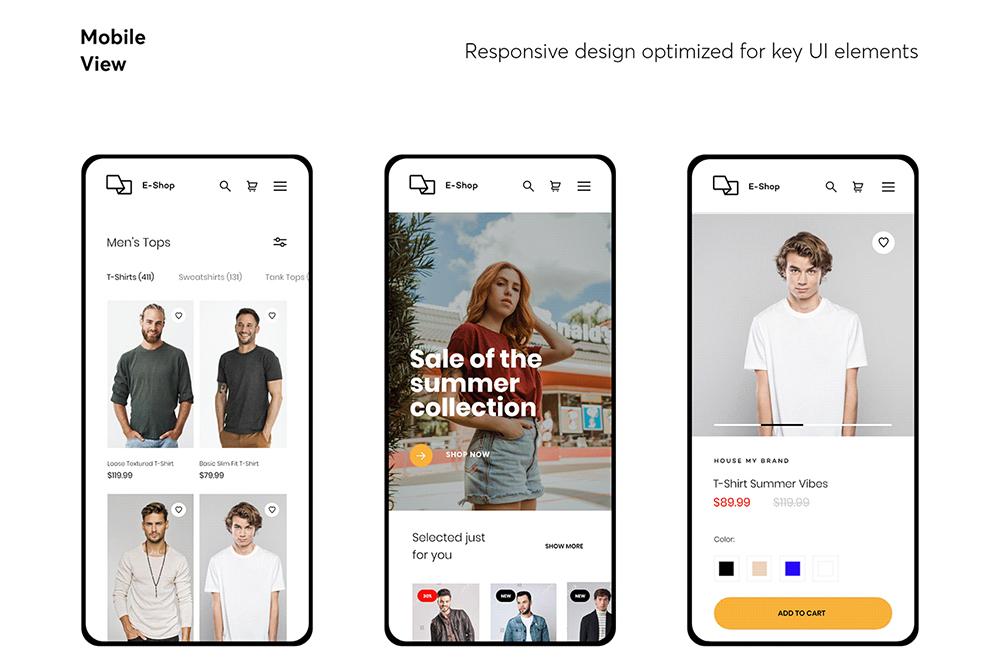 Responsive eCommerce UI kit