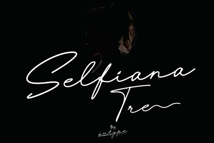 Selfiana Tre Script Font
