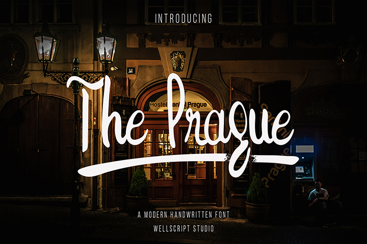 The Prague Handwritten Script Font