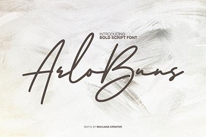 Arlobuns Signature Font Demo