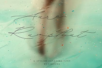 Auro Rumpthut Script Font