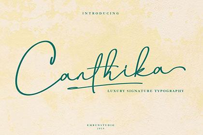 Canthika Stylish Signature Font