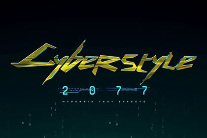 Cyberpunk 2077 Text Effect