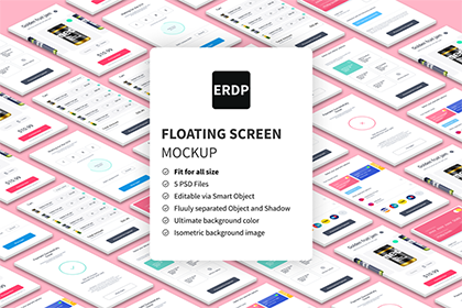Free Floating Screen Mockup