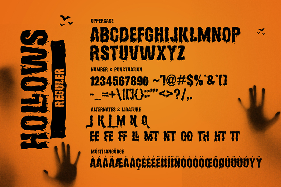 Hollows Spooky Display Font