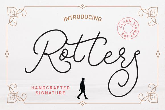 Rotters Monoline Script Font
