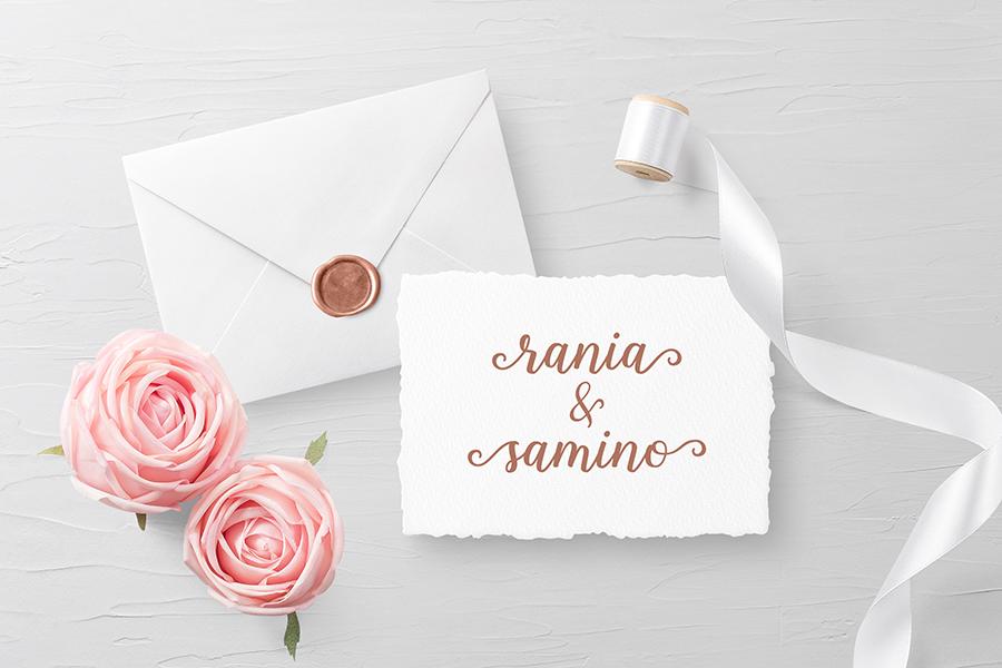 Shalinta Luxury Calligraphy Font