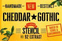 Cheddar Gothic Stencil Font