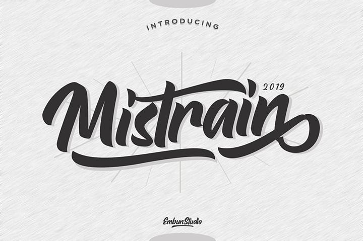 Demo Mistrain Typeface Font