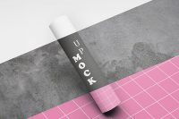 Free A4 Rolled Mockup