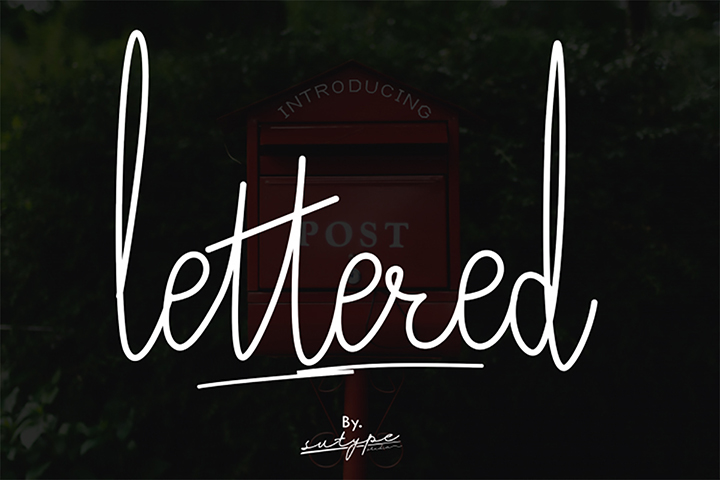 Free Demo Lettered Signature Font