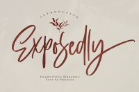 Free Exposedly Script Font