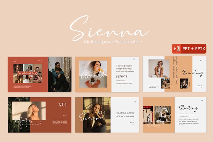 Free Sienna Presentation Template