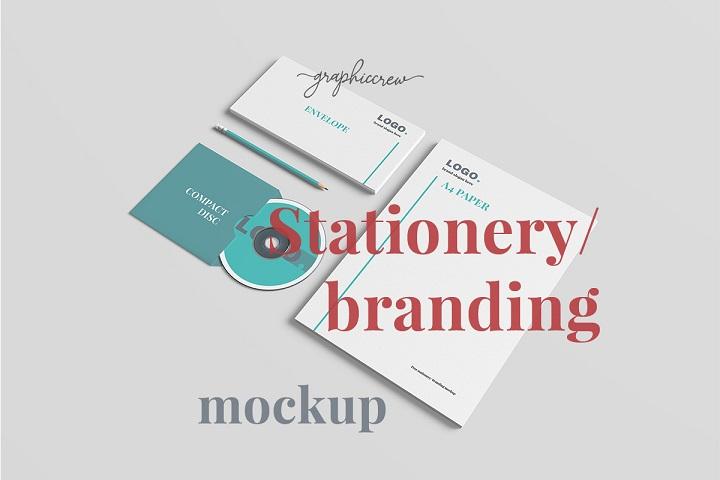 Free Stationery Branding Mockup