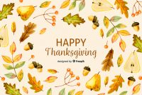 Free Thanksgiving Elements Watercolor