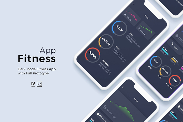 Free The Fitness App UI Kit