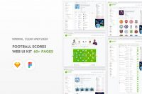 Free UI Kit - Football Scores Website