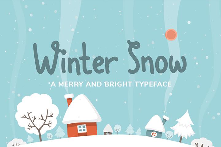 Free Winter Snow Font