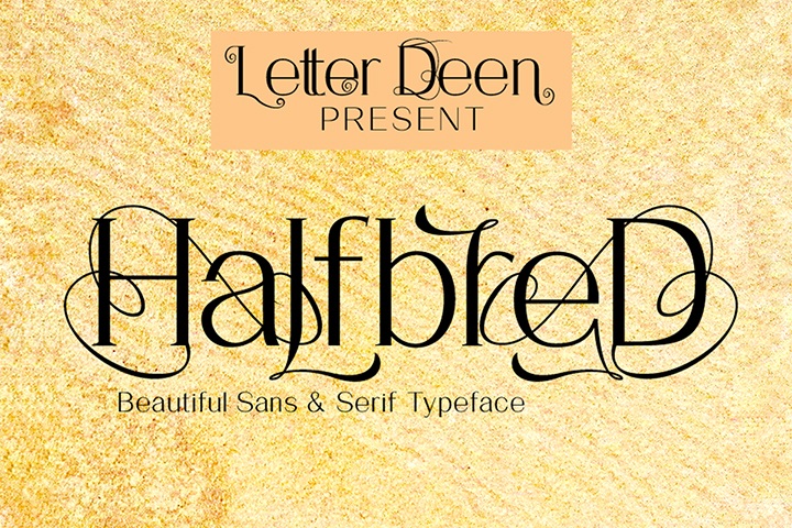 Free HalfbreD Display Font