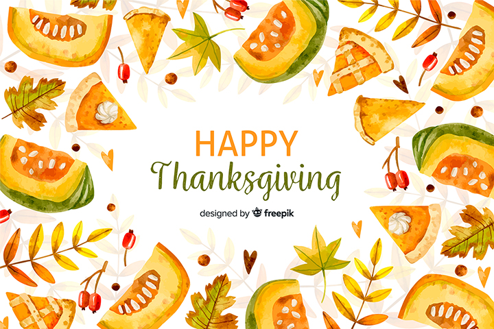 Happy Thanksgiving Day Elements Vector