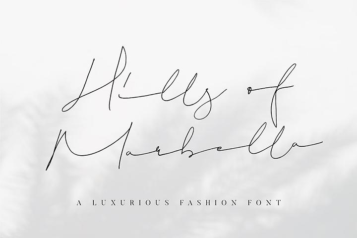 Hills of Marbella Handwritten Script Font