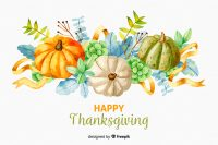 Free Pumpkin Thanksgiving Watercolor