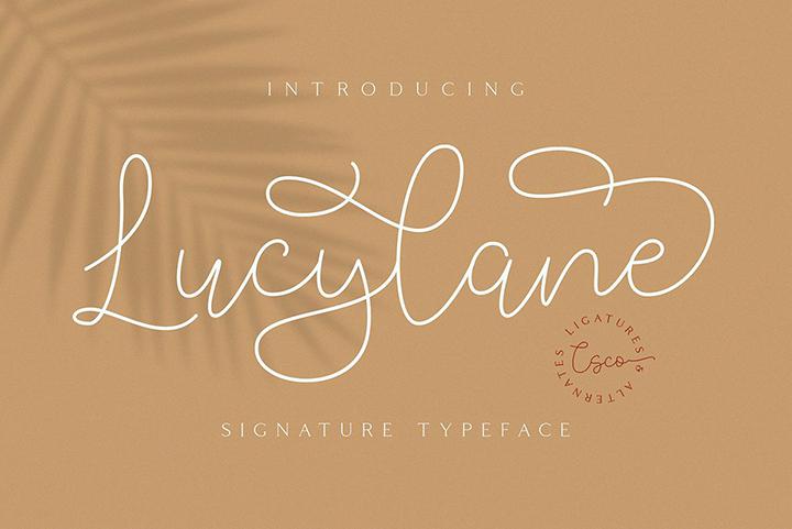 Lucylane - Signature Typeface