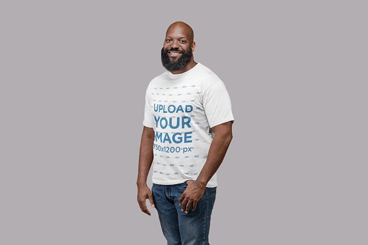 Free Beardman T-shirt Mockup