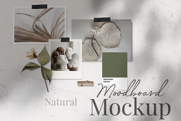 Free Natural Moodboard Mockup