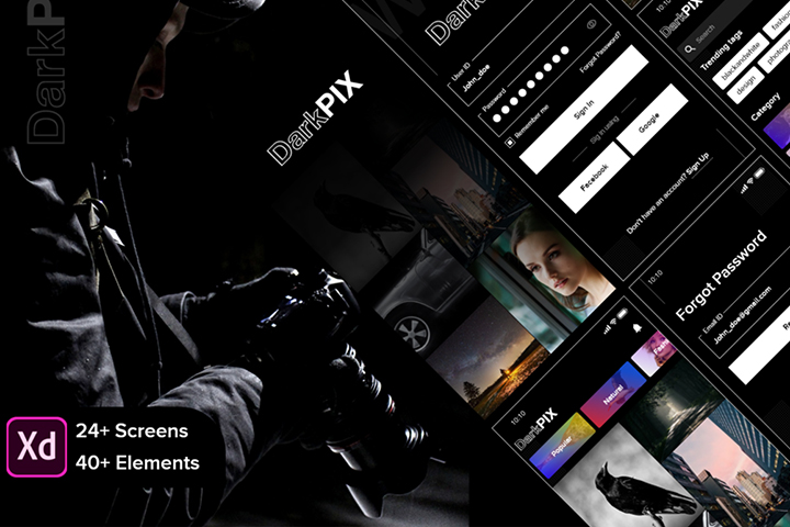 Free DarkPIX UI Kit
