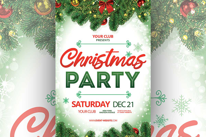 Free Elegant Christmas Party Flyer