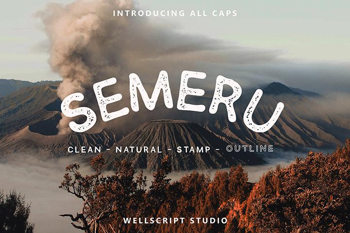 Free Semeru Handwritten Font