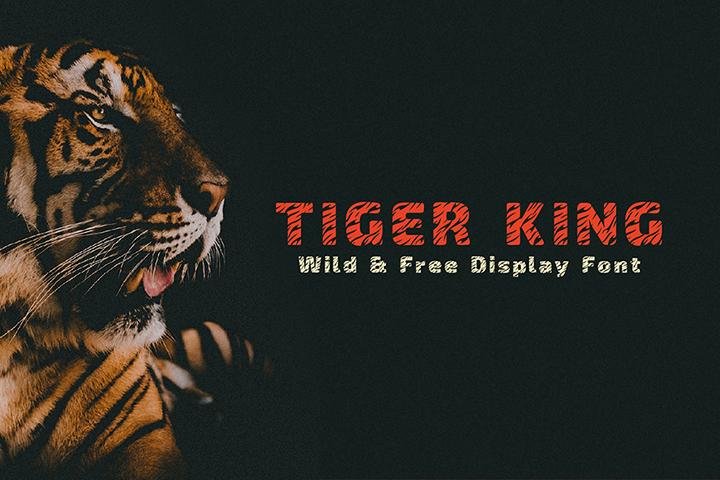 Tiger King Free Display Font
