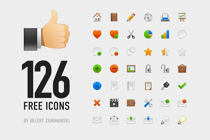 126 Free Essential Icons