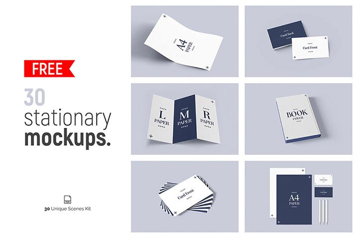 30 Free Stationery Mockups