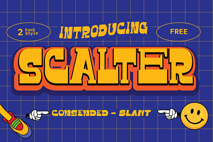 Scalter Free Display Typeface