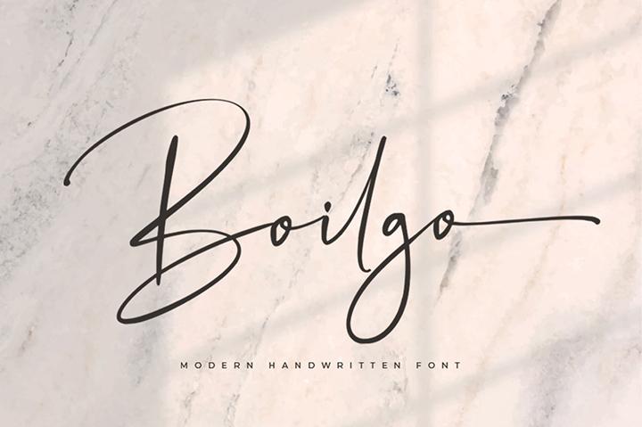 Boilgo Free Signature Font