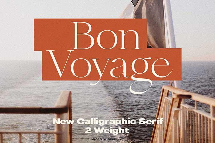 Bon Voyage Calligraphic Serif