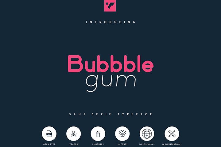 Bubbble Gum Sans Serif