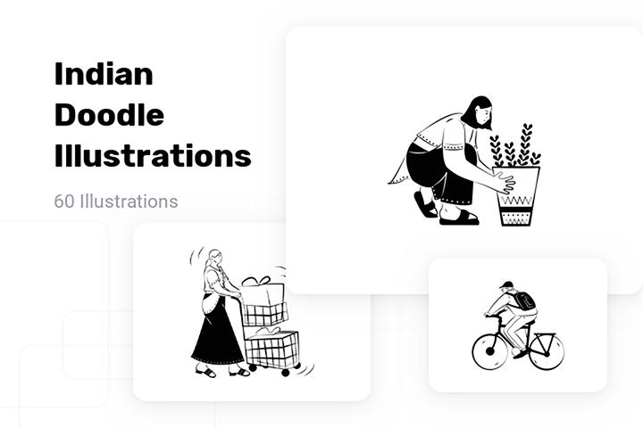 Indian Doodle Illustration Pack