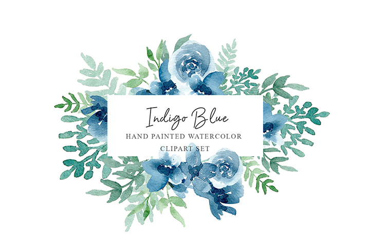 Indigo Blue Watercolor Pack ? Free Design Resources