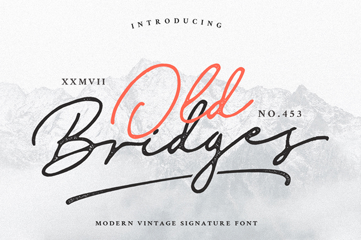 Old Bridges Script Font