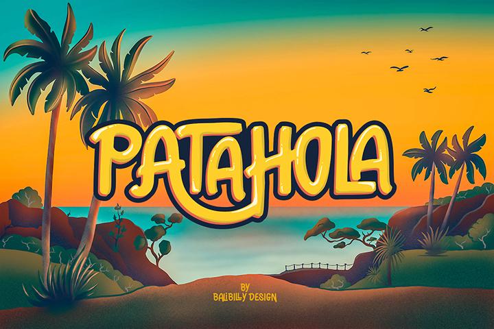 Patahola Playful Display Font