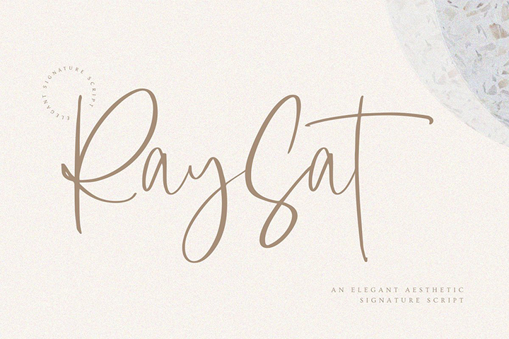 RaySat Luxurious Signature Font